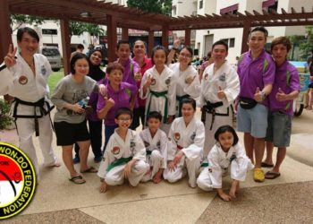 colour belt demonstration boon lay taekwondo